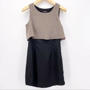Mossimo Medium Gray Black Sleeveless Dress A4-11